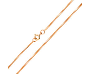 9ct Rose Gold 1.59mm Filed Curb Chain