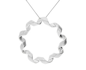 Sterling Silver Twist circle Pendant