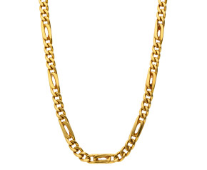 Pre-owned 18ct Yellow Gold 4.70mm Figaro Chain