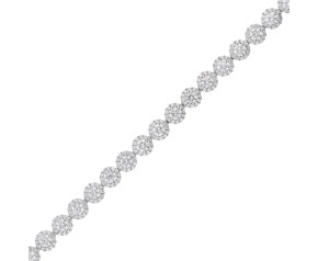 18ct White Gold 5.91ct Diamond Tennis Bracelet