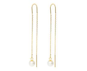 9ct Yellow Gold Pearl Thread Earrings