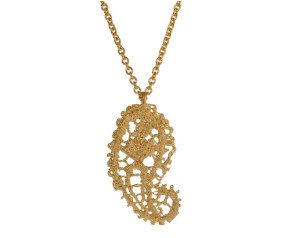 18ct Gold Vermeil Lace Paisley Pendant Necklace