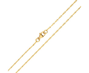 18ct Yellow Gold 1.49mm Barleycorn Chain Necklace