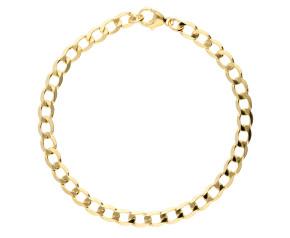 9ct Yellow Gold 4.85mm Metric Curb Chain Bracelet