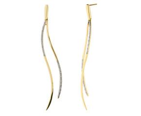 9ct Yellow Gold Diamond Fancy Drop Earrings