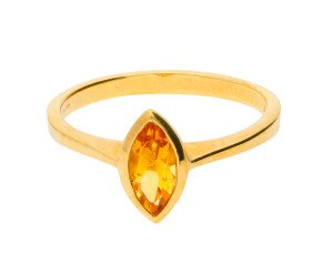 9ct Yellow Gold 0.70ct Citrine Solitaire Ring