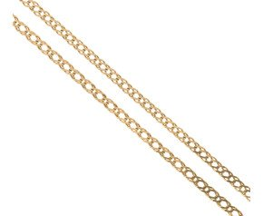 Pre-Worn 9ct Yellow Gold Double Curb Chain Necklace