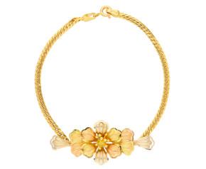 Pre-owned Italian Floral Bracelet