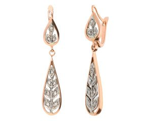 Handcrafted Italian 0.15ct Diamond Drop Earrings