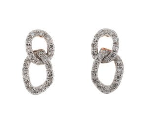 9ct Rose Gold Diamond Fancy Infinity Earrings