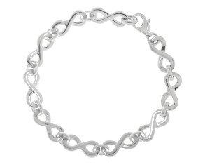 9ct White Gold Infinity Bracelet
