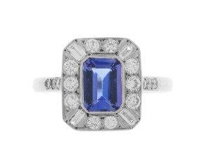 Pre-Owned 1.00ct Tanzanite & Diamond Dress Ring