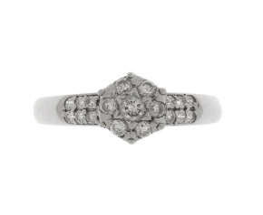 Vintage 0.33ct Diamond Cluster Ring