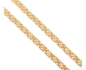 9ct Yellow Gold 7mm Byzantine Chain