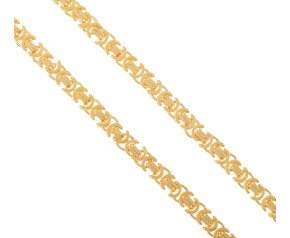 Men's 9ct Yellow Gold 8.20mm Byzantine Chain