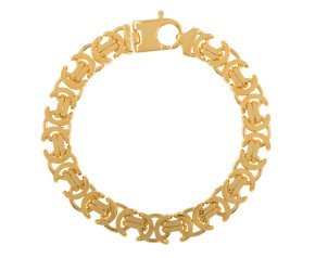 Men's Yellow Gold 11.2mm Byzantine Bracelet
