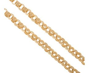 Men's 9ct Yellow Gold 8mm Belcher Chain