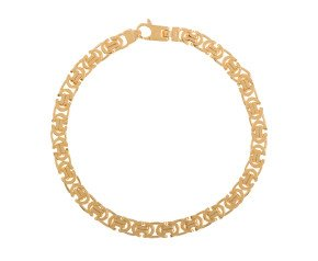 Men's 9ct Yellow Gold 5.5mm Byzantine Bracelet