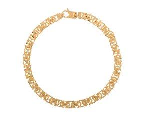 Men's 9ct Yellow Gold 5.50mm Byzantine Bracelet