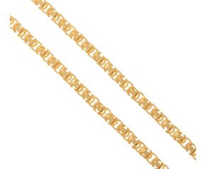 Men's 9ct Yellow Gold 5.5mm Byzantine Chain