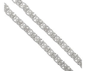 Men's 9ct White Gold 5.60mm Byzantine Chain