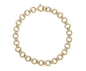 9ct White & Yellow Gold Fancy Bracelet