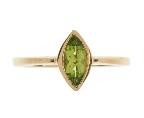 9ct Yellow Gold 0.70ct Peridot Solitaire Ring