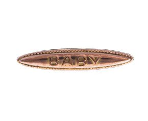 Antique Victorian 9ct Yellow Gold Baby Brooch