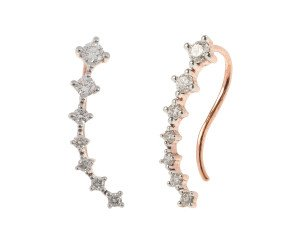 9ct Rose Gold 0.30ct Diamond Shooting Star Ear Cuffs