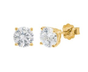 18ct Yellow Gold 1ct Diamond Solitaire Stud Earrings