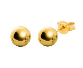 9ct Gold 10mm Ball Stud Earrings
