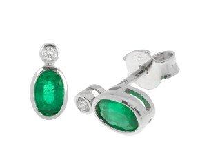 0.76ct Emerald & Diamond Earrings