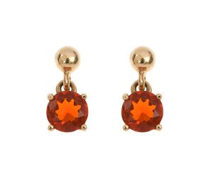 9ct Yellow Gold 0.90ct Fire Opal Drop Earrings