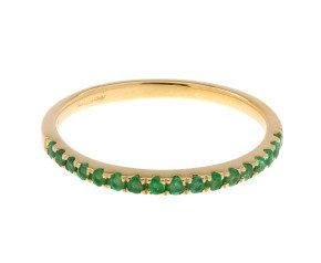 9ct Yellow Gold Emerald Half Eternity Ring
