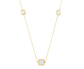 9ct Yellow Gold Mother Of Pearl Necklace