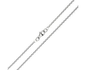18ct White Gold 1.93mm Close Link Trace Chain