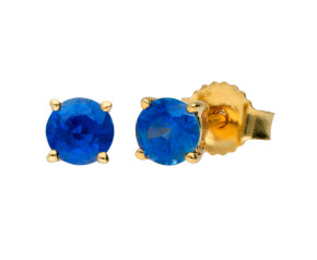 9ct Yellow Gold 0.50ct Sapphire Solitaire Stud Earrings
