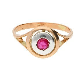 Handcrafted Italian 0.35ct Ruby Solitaire Ring