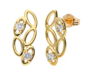 9ct Gold Aquamarine Contemporary Earrings