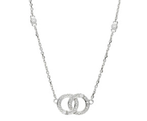 9ct White Gold 0.17ct Diamond Necklace