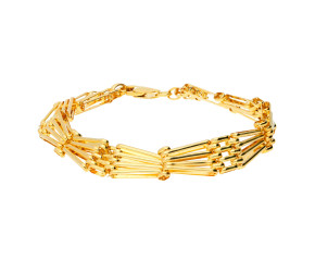 9ct Yellow Gold Modern Gate Bracelet