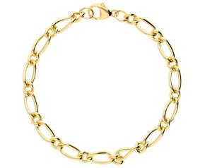 9ct Yellow Gold 5.64mm Figaro Chain Bracelet