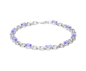 9ct White Gold 3.90ct Tanzanite Fancy Bracelet