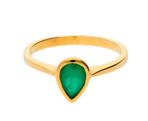 9ct Yellow Gold 0.75ct Emerald Solitaire Ring