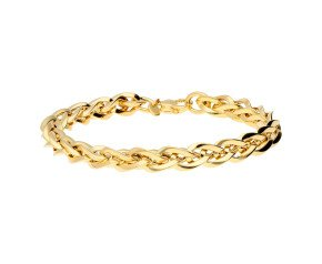 9ct Yellow Gold 7mm Spiga Bracelet
