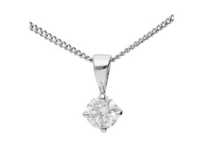 18ct White Gold 0.15ct Diamond Solitaire Pendant