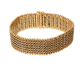 Pre-Owned Yellow Gold Fancy Chunky Bracelet