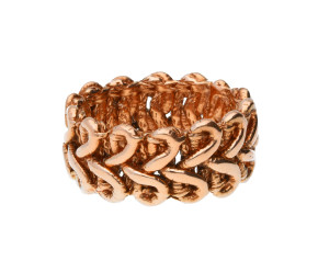 18ct Rose Gold Vermeil Lace Braid Ring