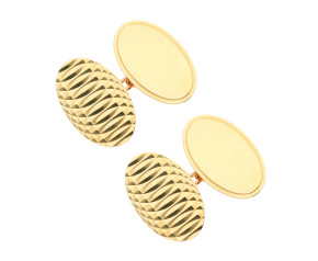 Vintage 1967 9ct Yellow Gold Oval chain Link Cufflinks