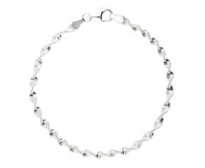 Sterling Silver 3mm Twisted Bracelet